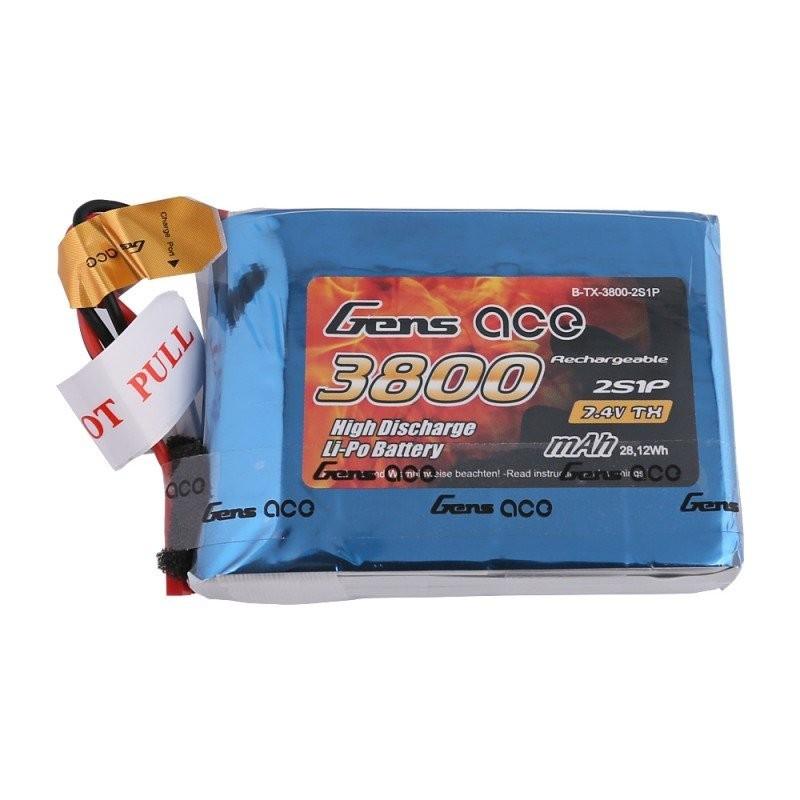 Lipo Battery Gens Ace 2S 3800mAh - JST-SYP
