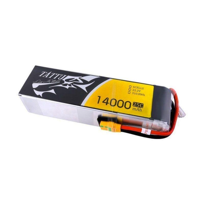 Tattu 14000mAh 25C 6S XT90 lipo battery pack