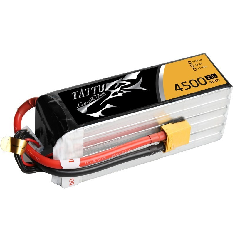 Tattu 4500mAh 25C 6S XT90 lipo battery pack