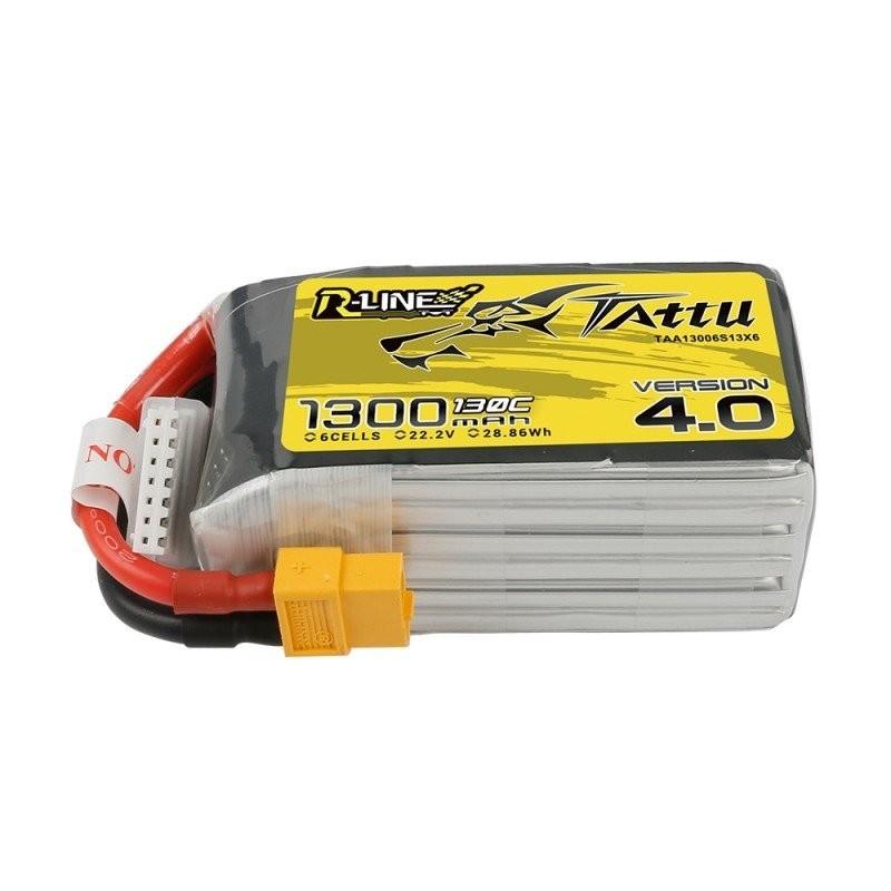 Batterie Lipo Tattu R-Line 6S 1300mAh 130C - Version 4.0