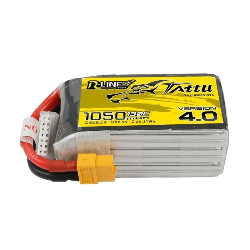 Batterie Lipo Tattu R-Line 6S 1050mAh 130C - Version 4.0
