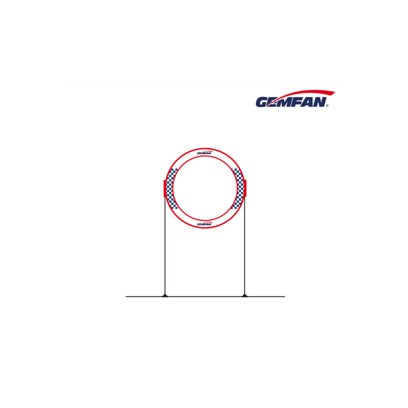 GEMFAN Circle Race Gate 78x78cm + Base Tools