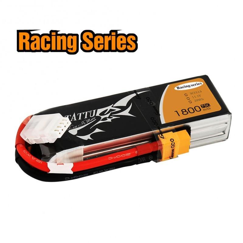 Batterie Lipo Tattu 3S 1800mAh 75C - Racing Series