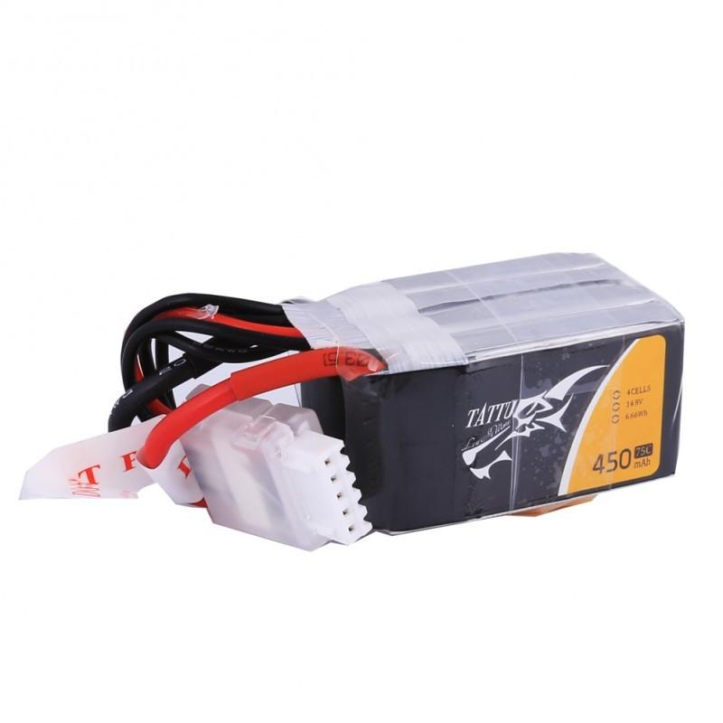 Tattu 4S 450mAh 75C Lipo Battery (XT30)
