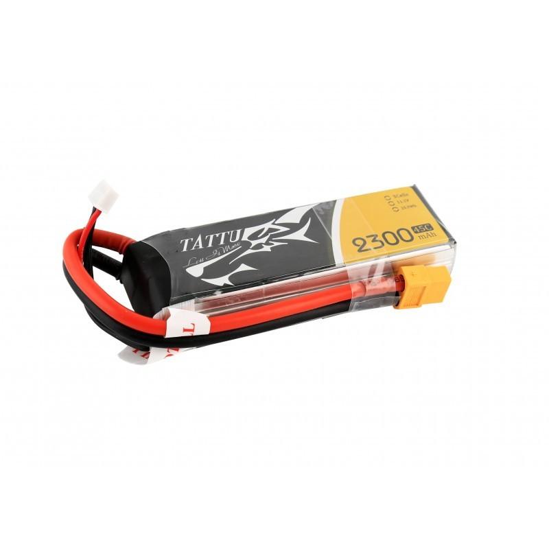 Batterie Lipo Tattu 3S 2300mAh 45C