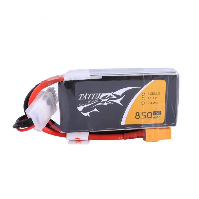 Batterie Lipo Tattu 3S 850mAh 75C (XT30)