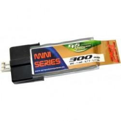 Batterie Lipo EPS 1S 300mAh 25C - prise intégrée MCPX