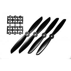 Hélices HQProp 6x45 renforcées carbone (4 pces) -2x CW + 2xCCW