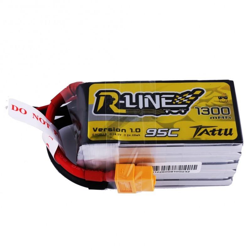Tattu R-Line 5S 1300mAh 95C Lipo Battery