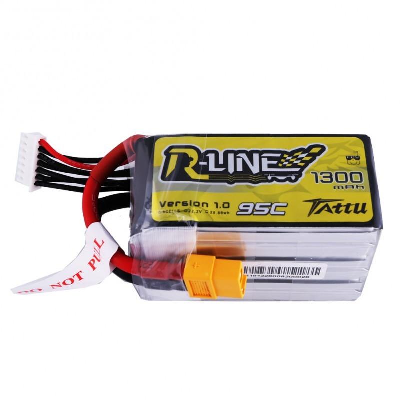 Tattu R-Line 6S 1300mAh 95C Lipo Battery