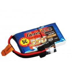 Batterie Lipo GensAce 2S 350mAh 30C (JST-PHR)