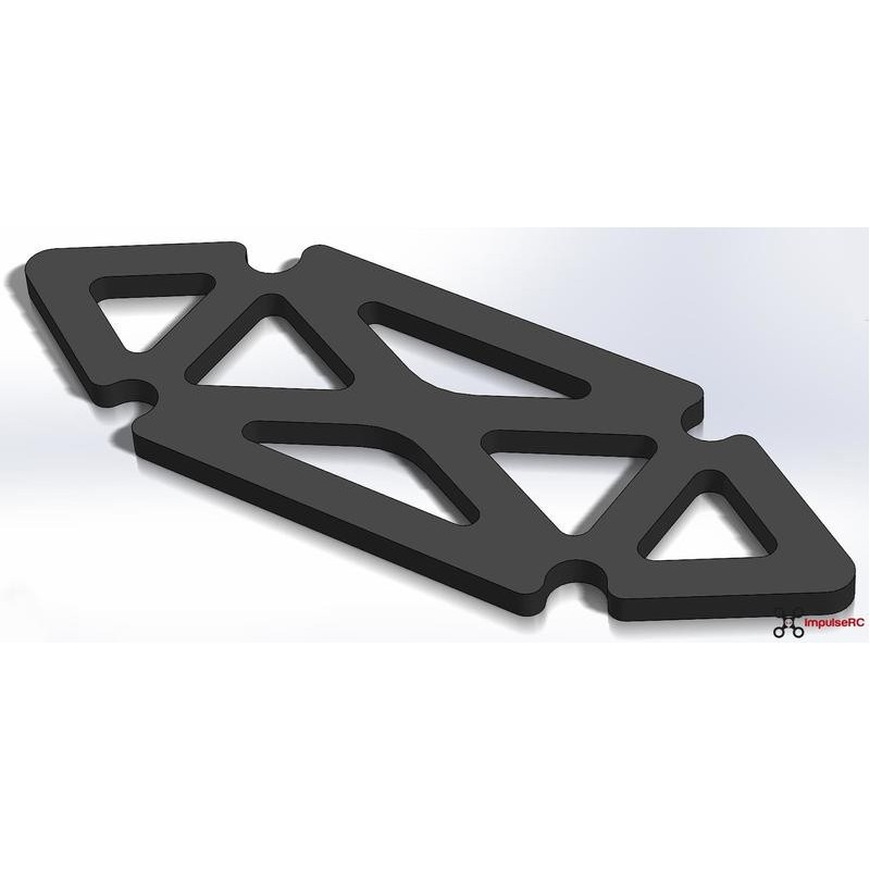 "Alien 4"" LIPO pad - 3mm BLACK de ImpulseRC"