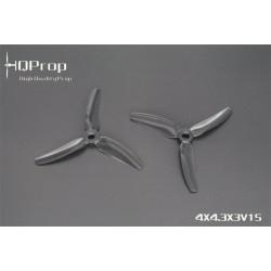 HQProp DP 4X4.3X3 V1S - PC - (2x CW + 2xCCW)