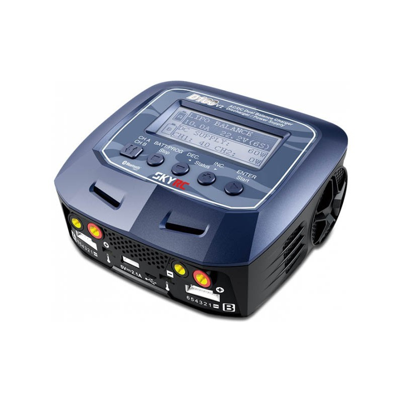 Duo D100 v2 AC/DC charger (AC max 100w total - DC 2x100w)