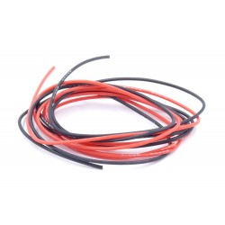 Fil silicone AWG22 - Rouge + Noir 1m