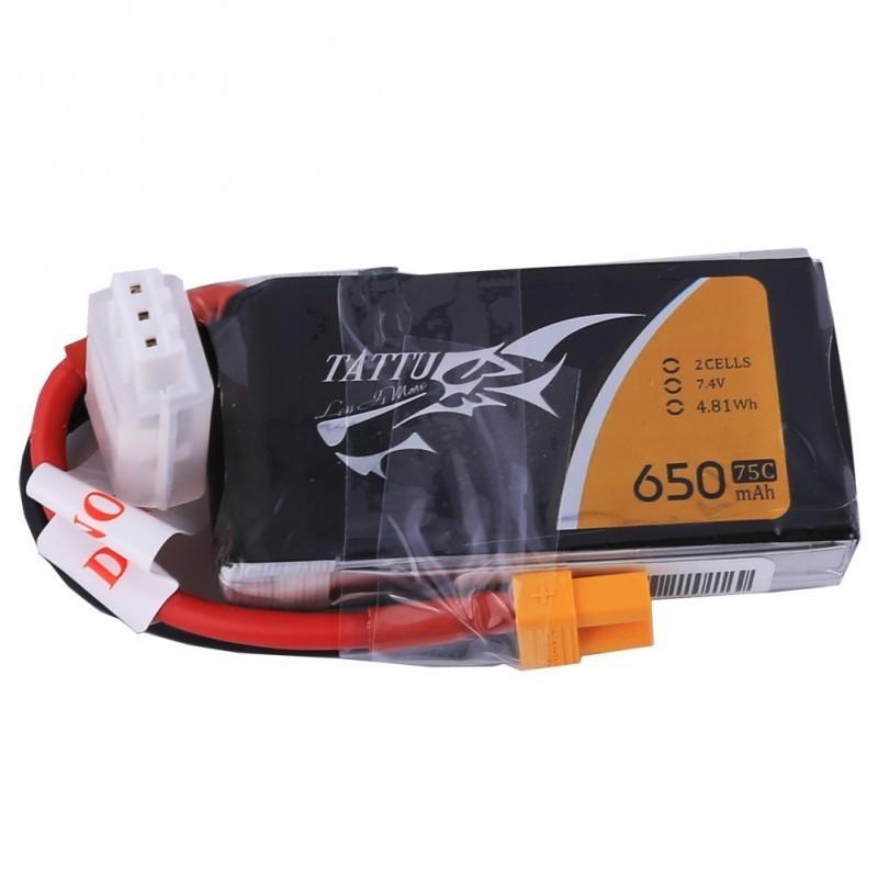 Batterie Lipo Tattu 2S 650mAh 75C - XT30