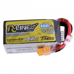 Tattu R-Line HV 4S 1550mAh 100C Lipo Battery