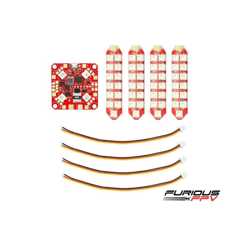 FuriousFPV Lightning PDB + 4x Duo Row LED Strip