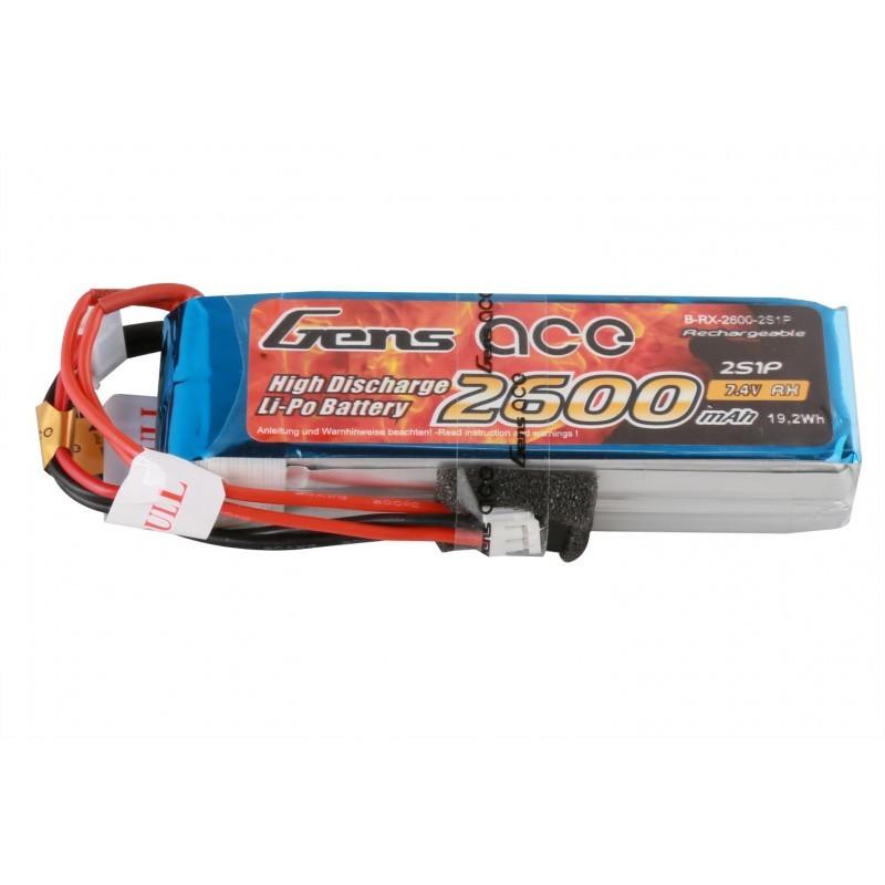 Batterie Lipo Gens Ace 2S 2600mAh