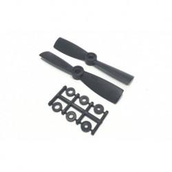 Hélices HQProp 4x45 Bullnose - renforcées Carbone (4 pces) -2x CW + 2xCCW