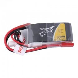Batterie Lipo Tattu 2S 800mAh 45C - JST