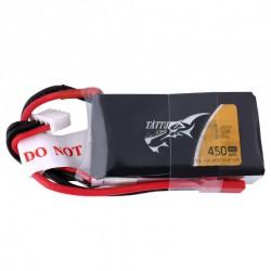 Batterie Lipo Tattu 3S 450mah 45C (JST)