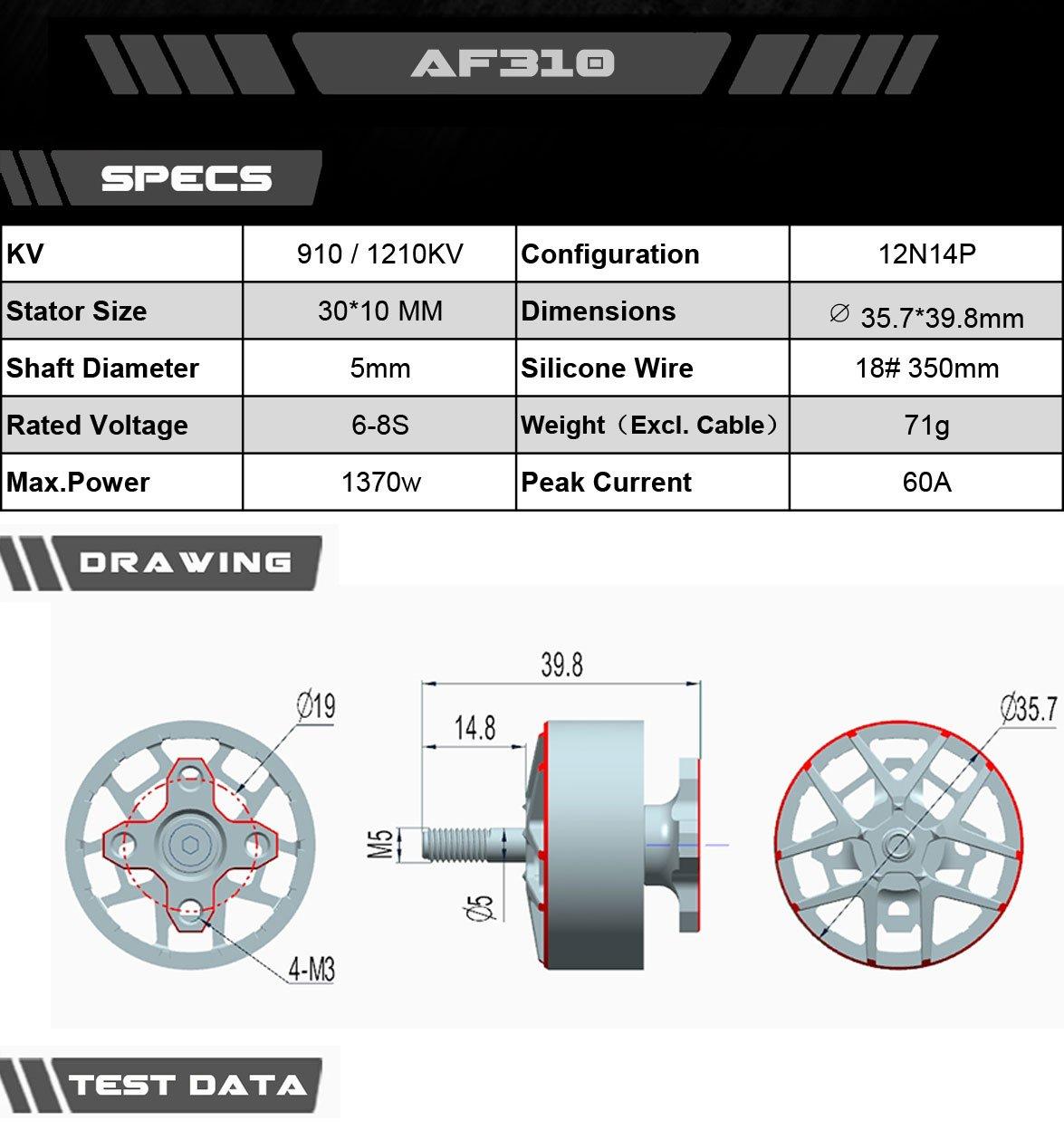 AXIS Flying moteur AF310 - 1210KV