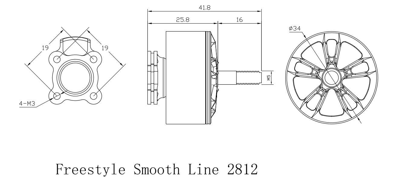 Freestyle Smooth Line 2812 - 1100Kv