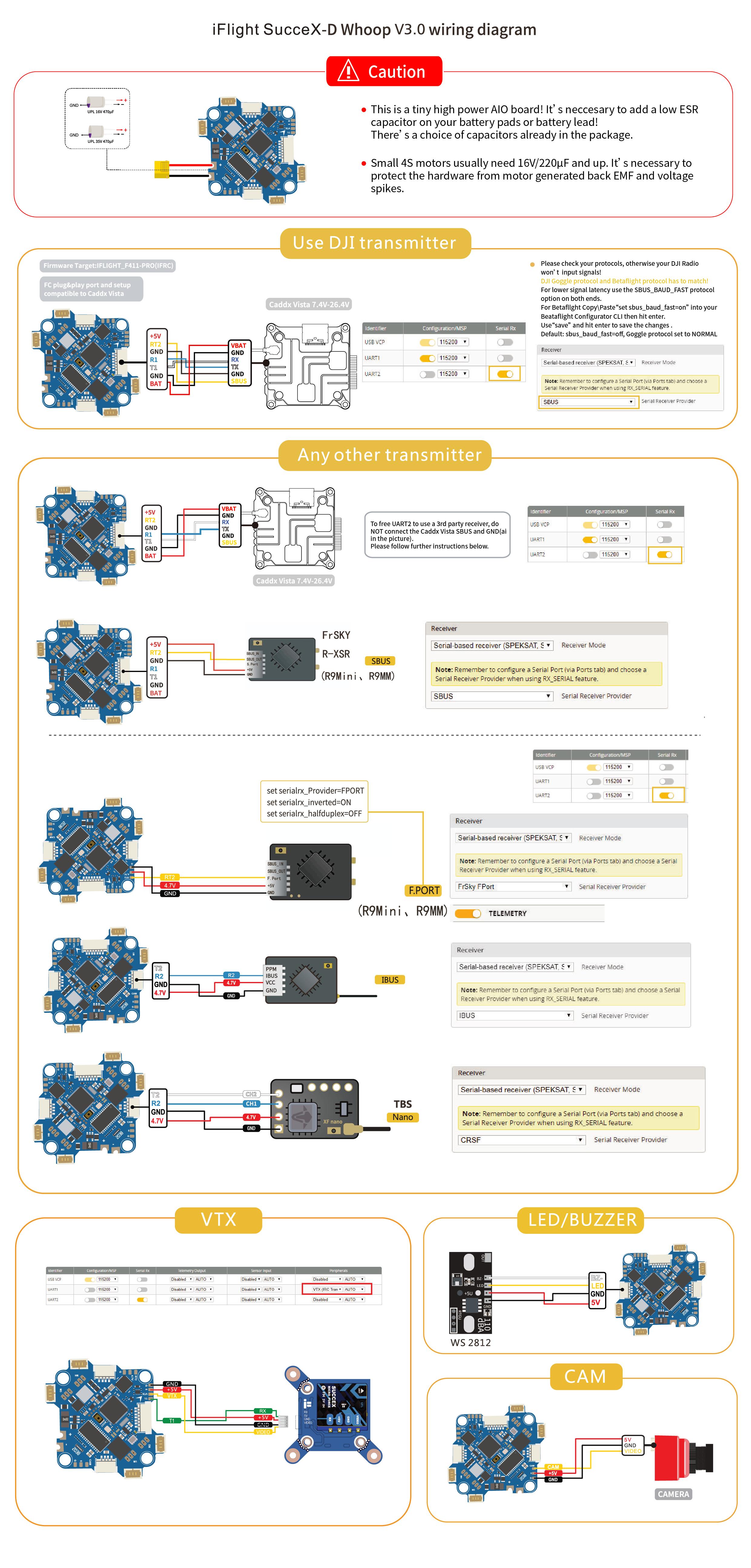 iFlight SucceX-D Whoop wiring diagram