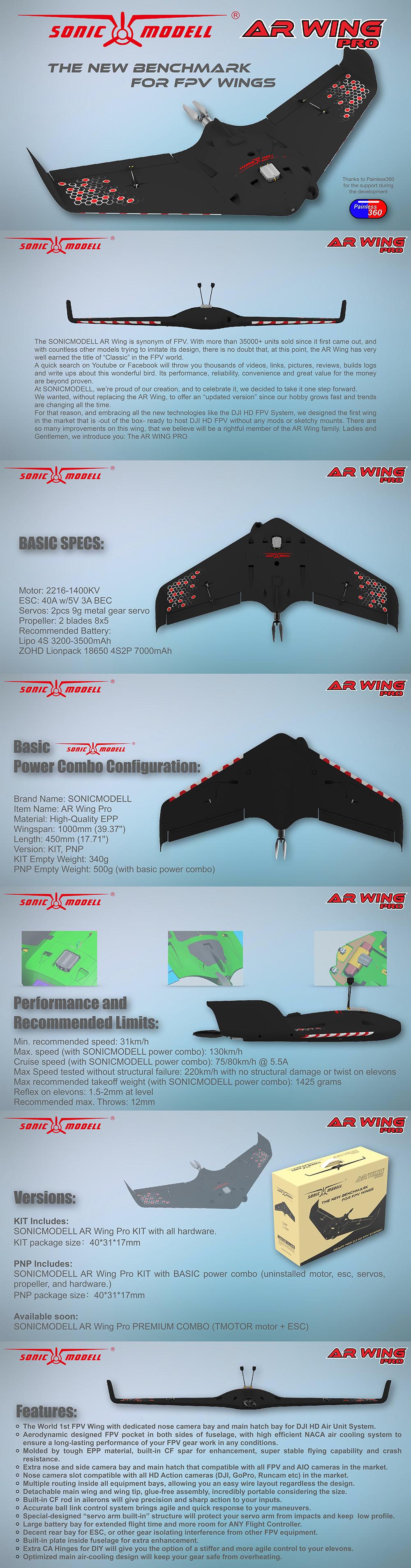 SonicModell AR. Wing Pro PNP