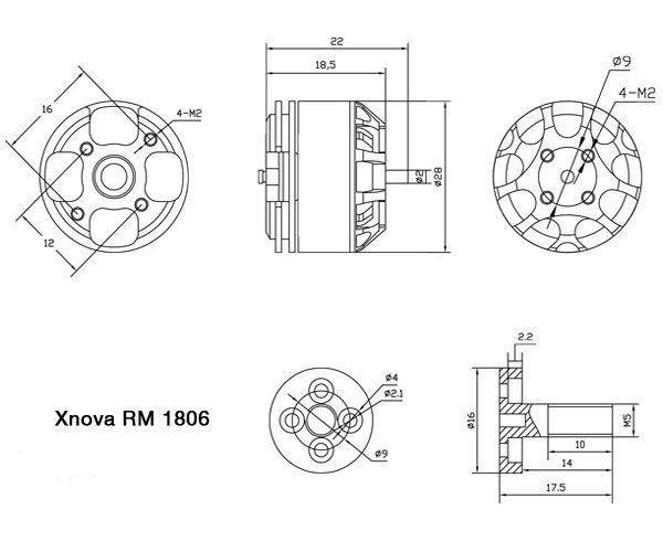 moteur xnova 1806 2300kv